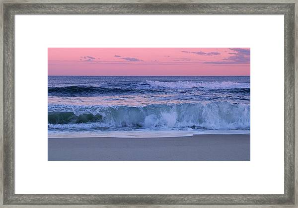 Evening Waves - Jersey Shore Framed Print