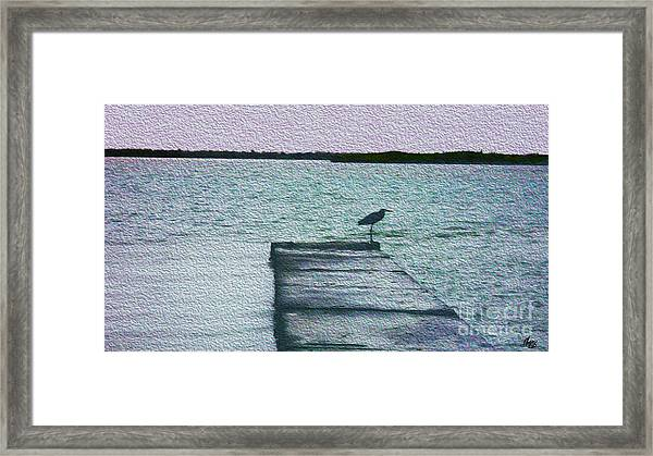 Eveningtide-painting Framed Print