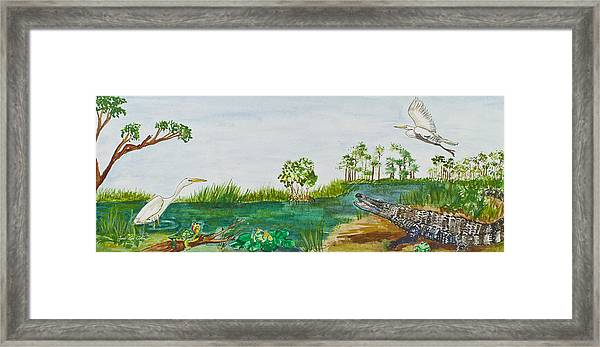 Everglades Critters Framed Print