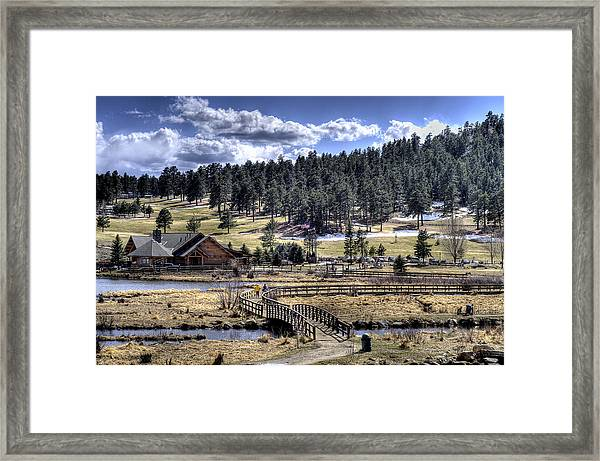 Evergreen Colorado Lakehouse Framed Print