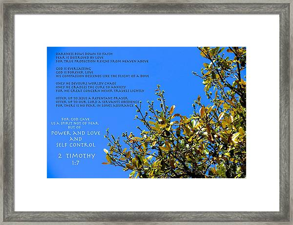 Fear Not Framed Print by David  Norman