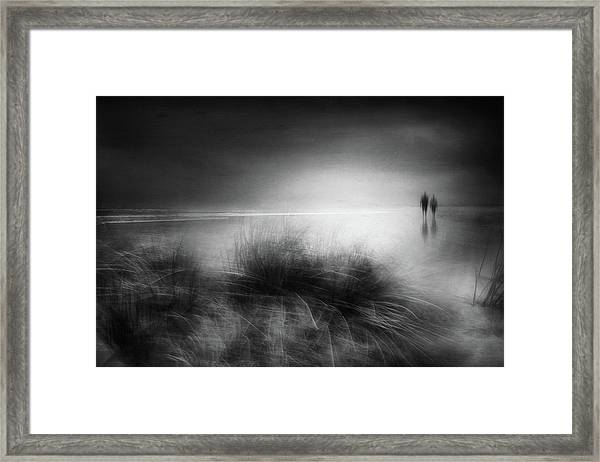 Everything Changes Like The Shoreline And The Sea Framed Print