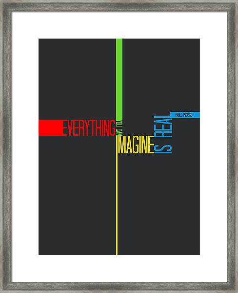 Everything You Imagine Poster Framed Print