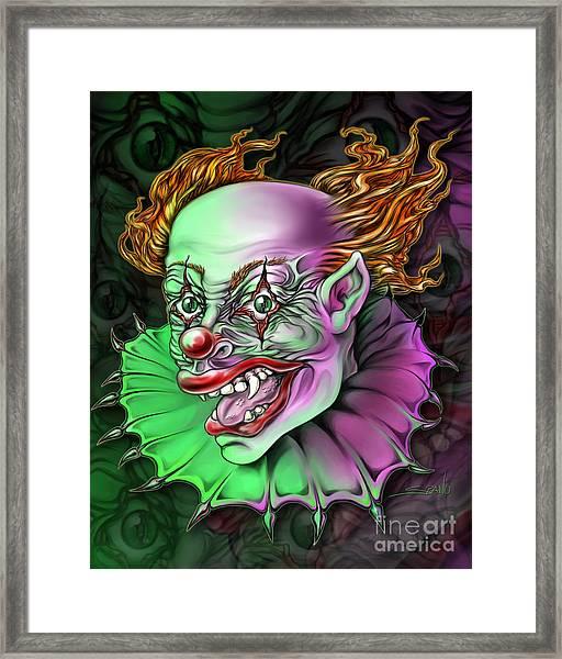 Evil Clown By Spano Framed Print