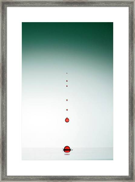Evolution Of Waterdrops - 1 Framed Print