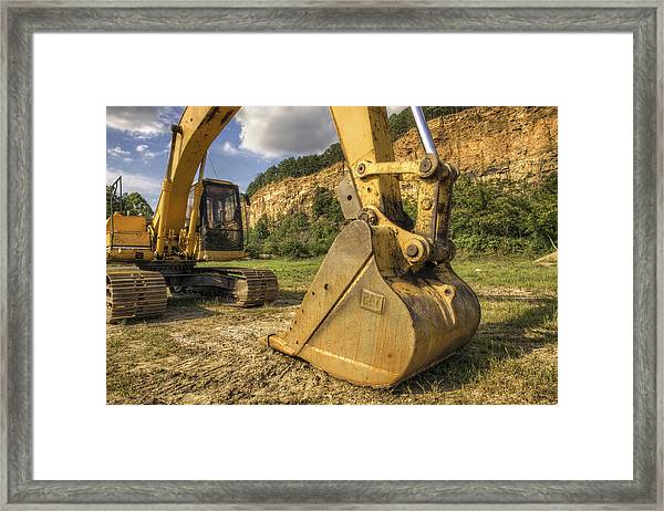 Excavator At Big Rock Quarry - Emerald Park - Arkansas Framed Print