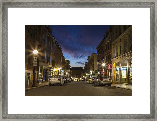 Exchange Street Portland Maine Framed Print