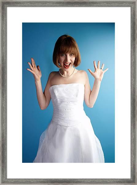 Excited Bride Framed Print by Jupiterimages