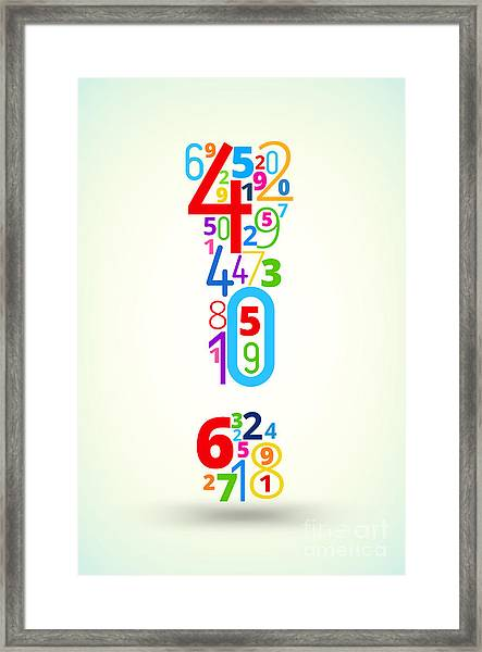 Exclamation Point,  From Rainbow Framed Print