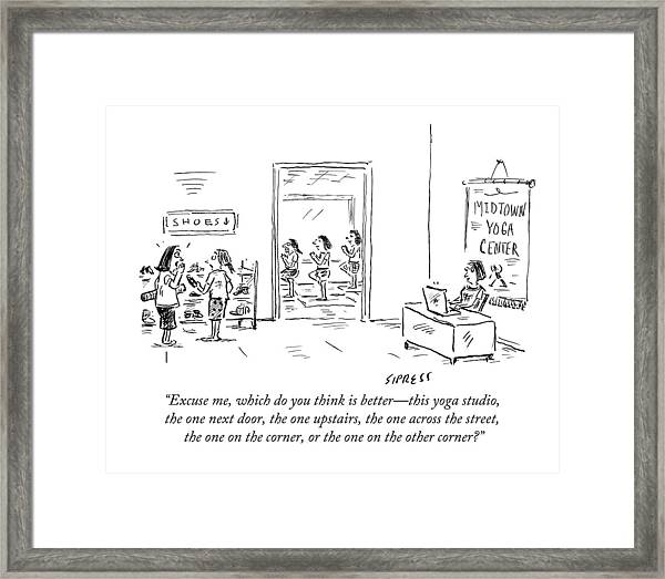 Excuse Me, Which Do You Think Is Better - This Framed Print