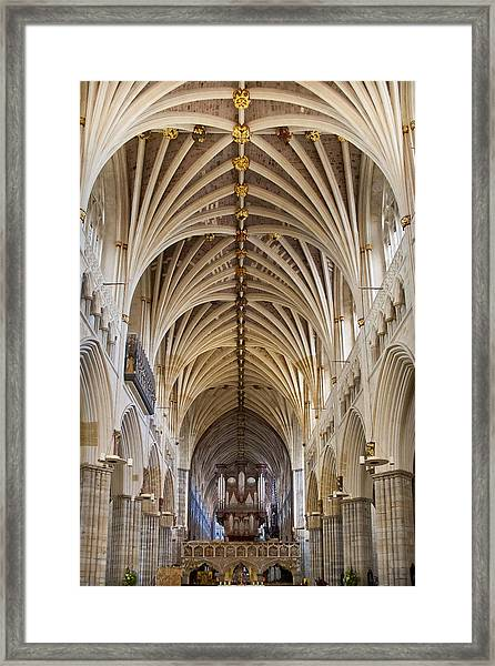 Exeter Cathedral And Organ Framed Print