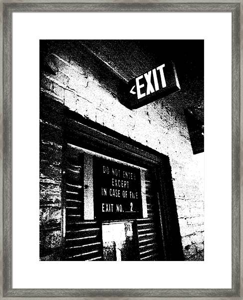 Exit Number Two Framed Print