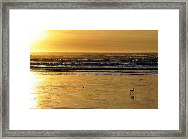 Exit Stage Right Framed Print