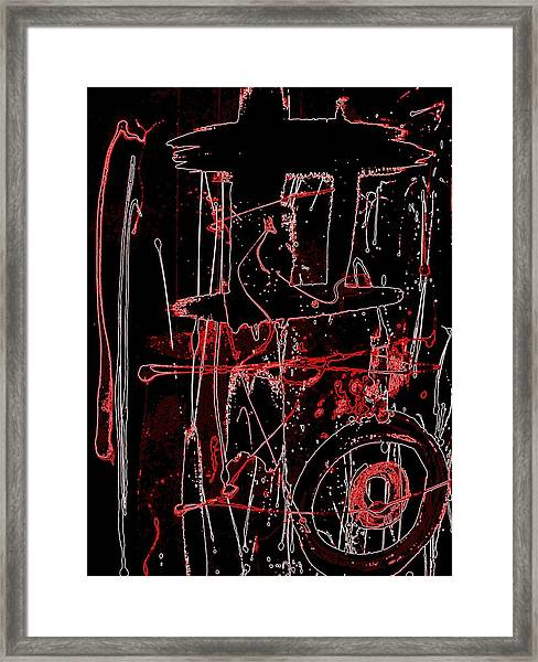 Exo 20 Red Framed Print