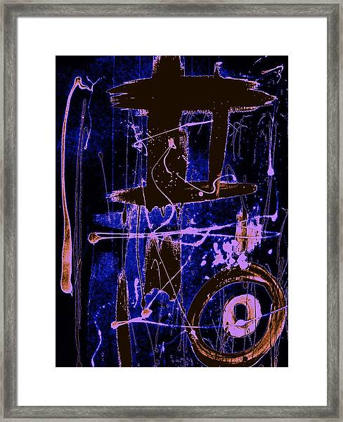 Exo Blue 8293 Framed Print