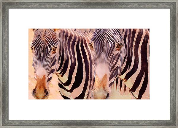 Exotic Friends Framed Print