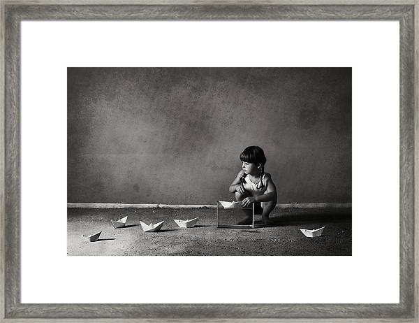 Expanding The Horizons Of Imagination.. Framed Print