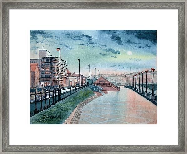 Expanse Hotel And South Promenade In Bridlington Framed Print