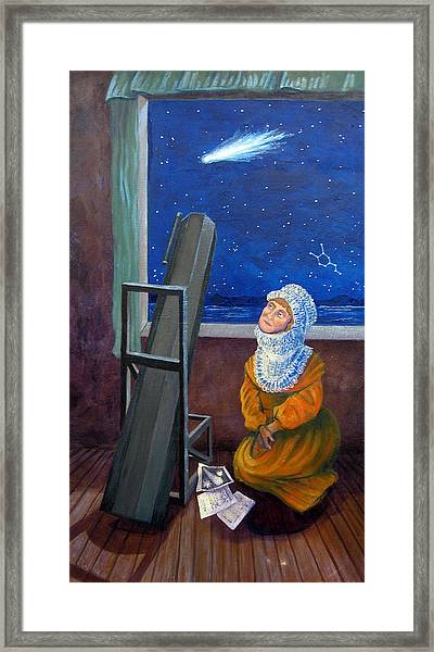 Explorer Of Stars - Caroline Herschel Framed Print
