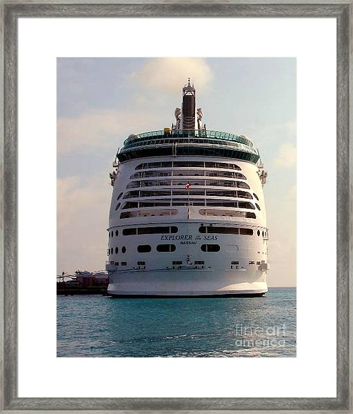 Explorer Of The Seas Framed Print