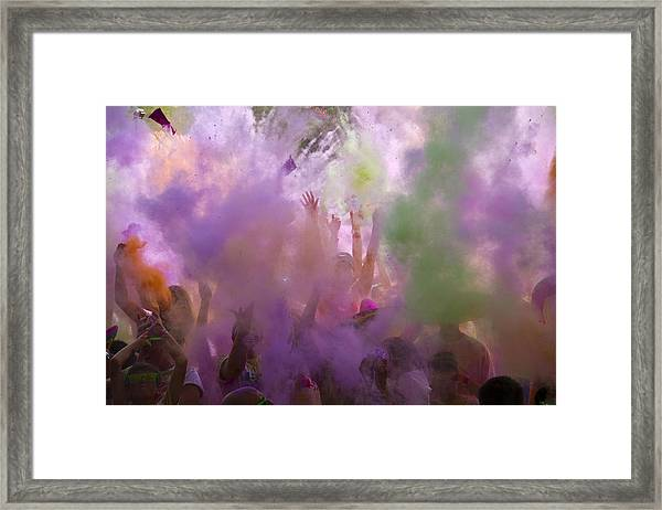 Explosion Of Colour Framed Print by Debbie Cundy