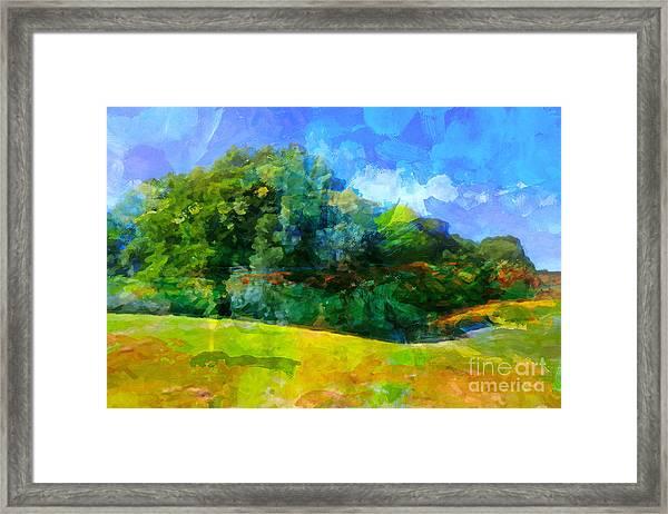 Expressive Landscape Framed Print