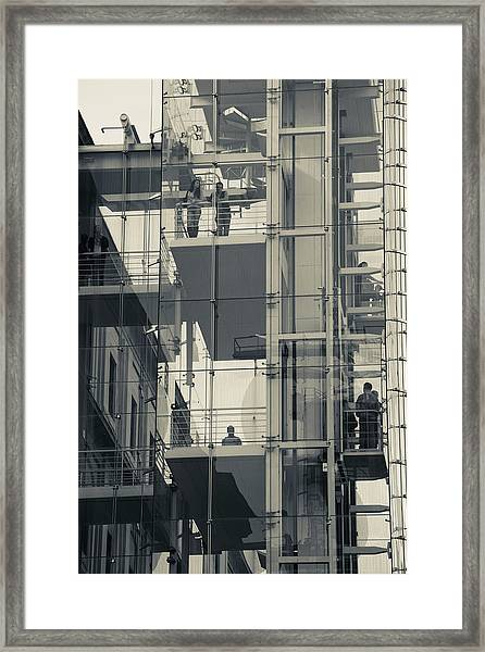 Exterior Elevators At A Museum, Museo Framed Print