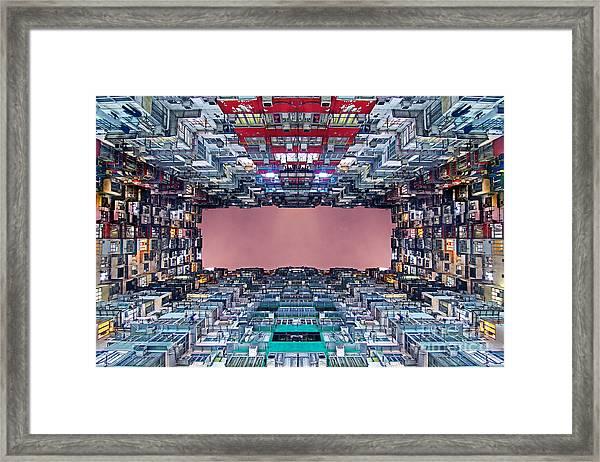 Extreme Housing In Hong Kong Framed Print by Lars Ruecker