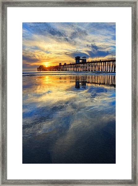 Extreme Low Tide Reflections  Framed Print by Donna Pagakis