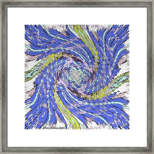 Extruded Twirly Framed Print