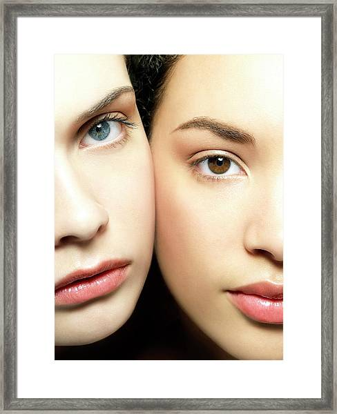 Eye Colour Framed Print by Kate Jacobs/science Photo Library