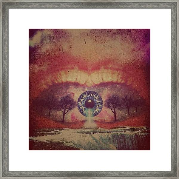 eye #dropicomobile #filtermania Framed Print