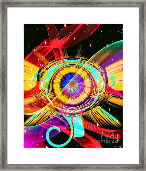 Framed Print featuring the digital art Eye Of Horus by Eleni Mac Synodinos