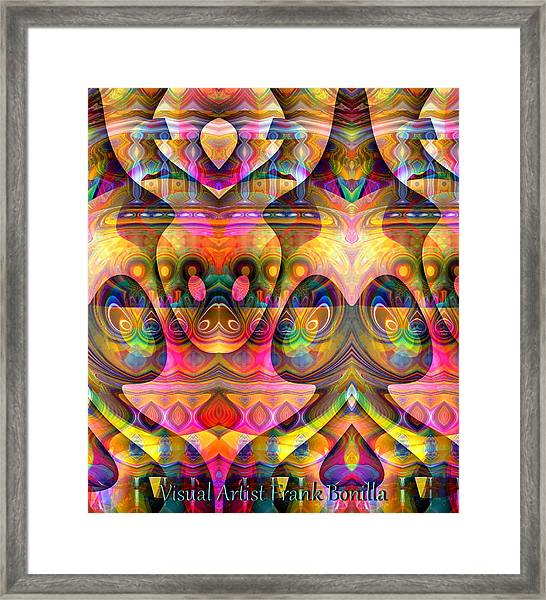 Framed Print featuring the digital art Eye Of The Snake by Visual Artist Frank Bonilla