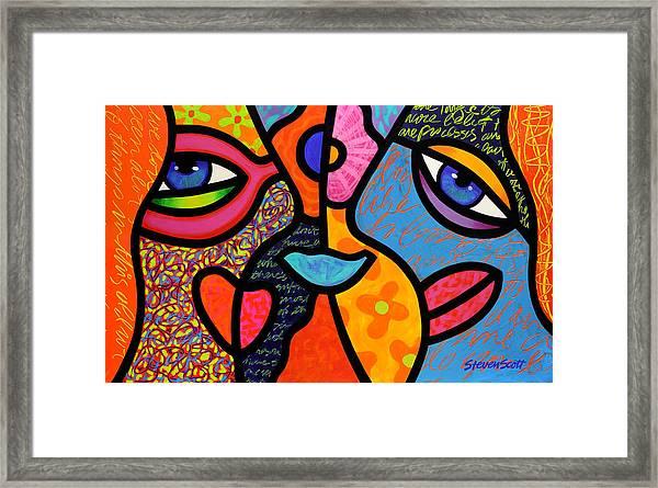 Eye To Eye Framed Print
