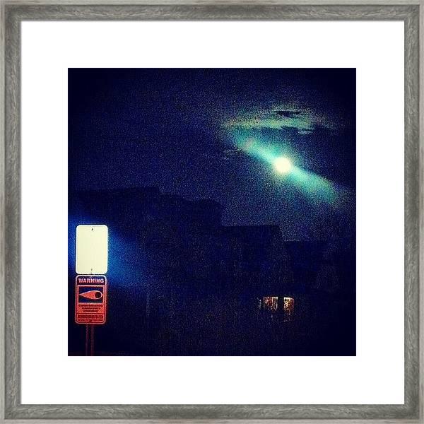 Eye Watch The Moon Framed Print