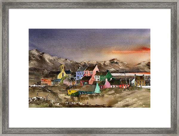Eyeries Village Beara West Cork Framed Print