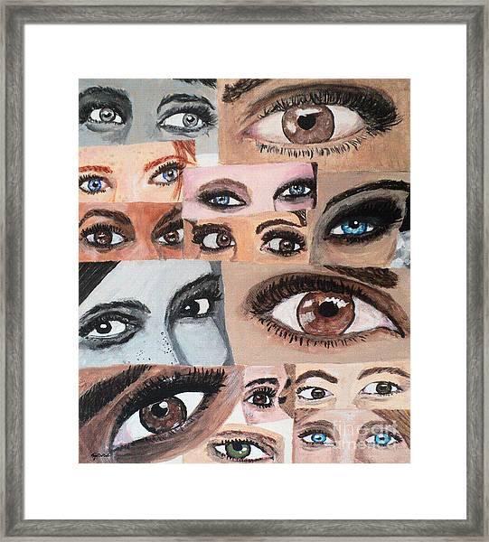 Eyes Have It Framed Print