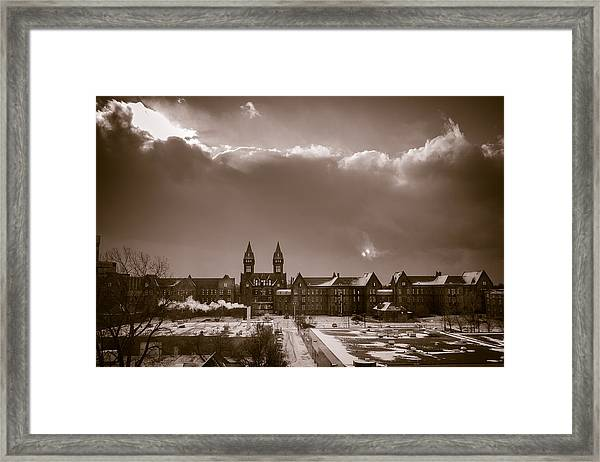 Eyes Over Richardson Center Framed Print