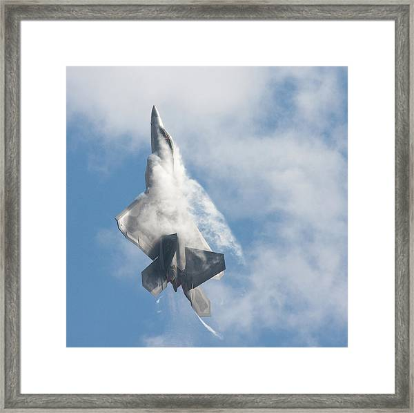 F-22 Raptor Creates Its Own Cloud Camouflage Framed Print