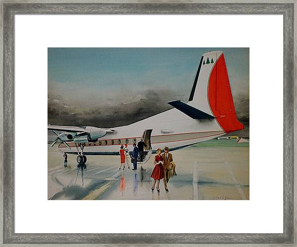 F-27 At Columbus Ohio Framed Print