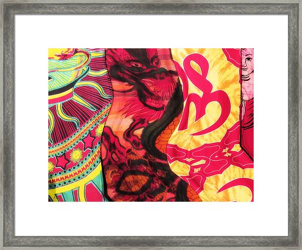 Fabric Collision Framed Print