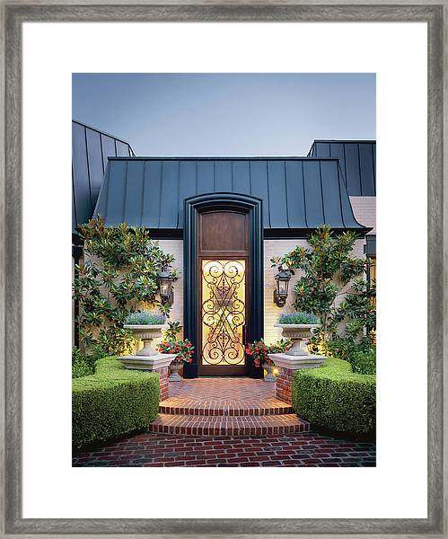 Facade Of Purple House Framed Print