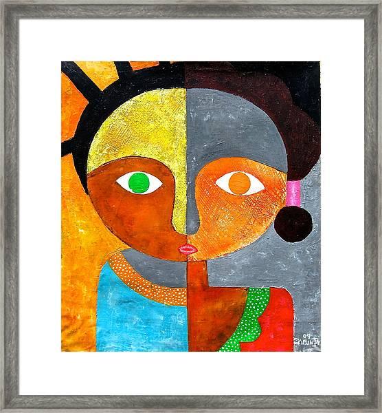 Face 2 Framed Print