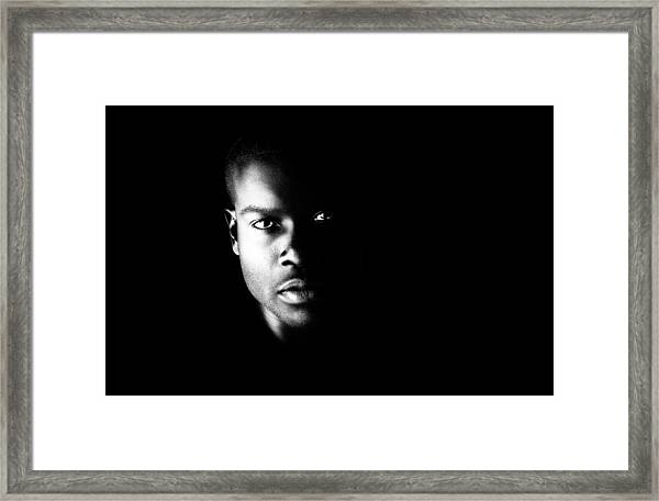 Face From The Dark Framed Print