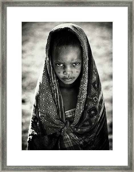Face Of Africa Framed Print by Goran Jovic