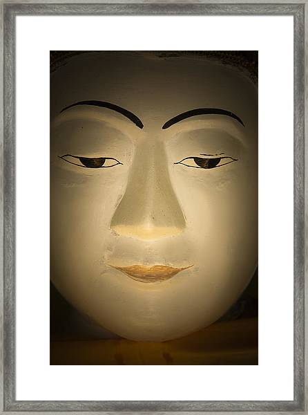 Face Of Buddha Framed Print