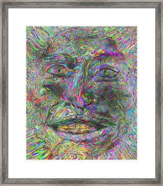Face On Fire Framed Print