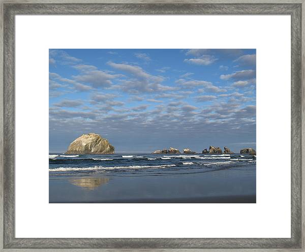 Face Rock Blues Framed Print