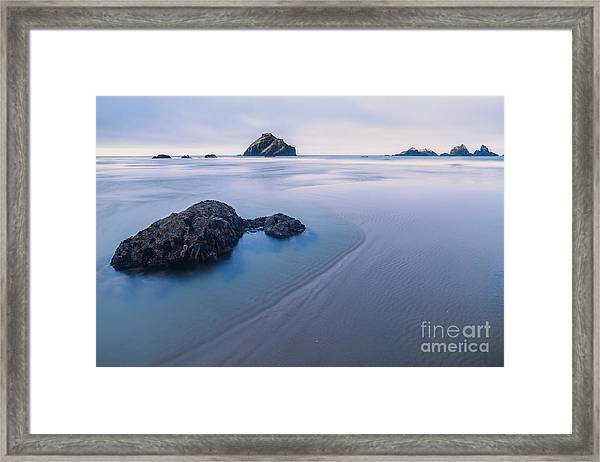 Face Rock Framed Print
